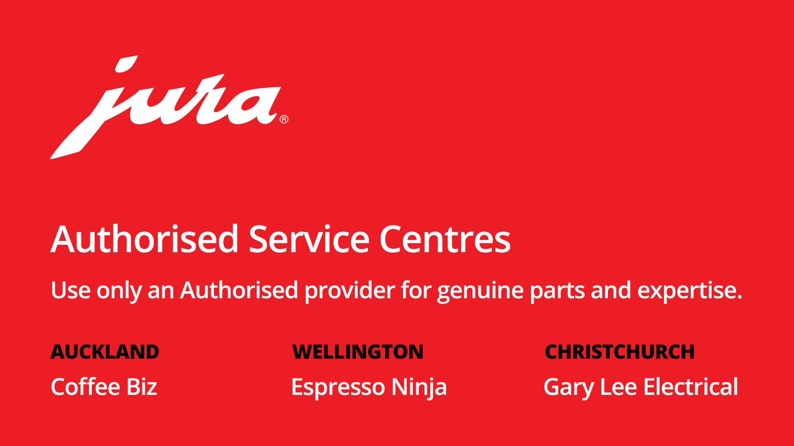 jura authorised service centres